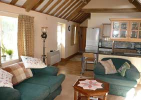 Lounge/Diner in tSouthwood Barn self catering